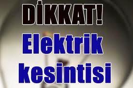 Çarşamba Elektrik Kesintisi Günü Uygulanacak