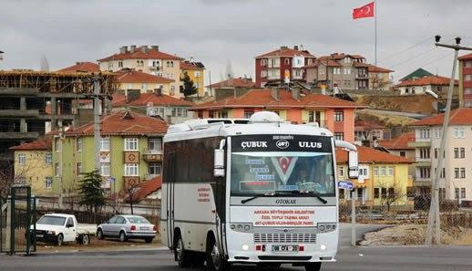 Çubuk'un En Hızlısı Özel Halk Otobüsleri
