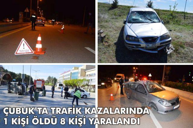 Kazalarda 1 Kişi Hayatını Kaybetti 8 Yaralı