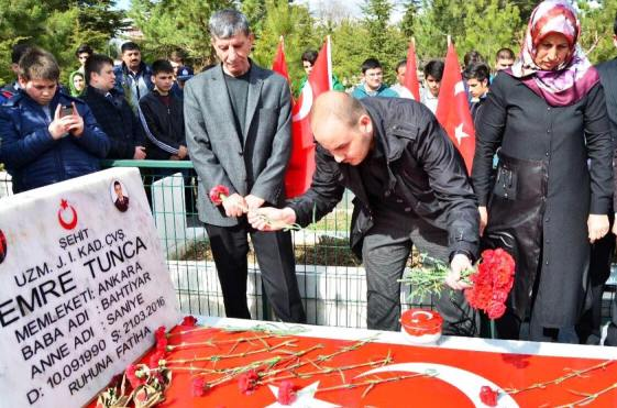 Şehit Tunca'ya Dua Edildi