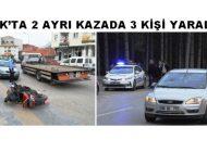 Çubuk'ta 2 Ayrı Kazada 3 Kişi Yaralandı