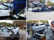 Otomobil Ego Otobüsüne Arkadan Çarptı: 1 Ölü 6 Yaralı