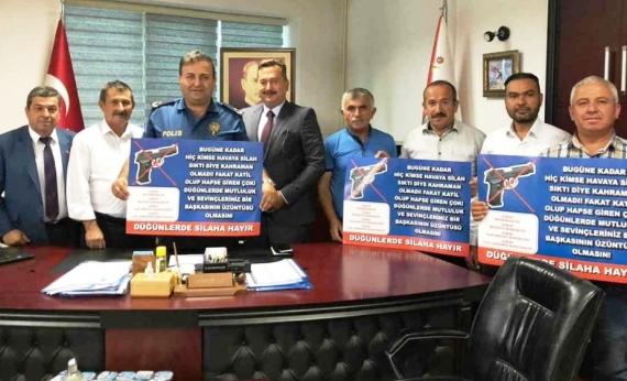 Çubuk'tan Silaha Hayır Kampanyası