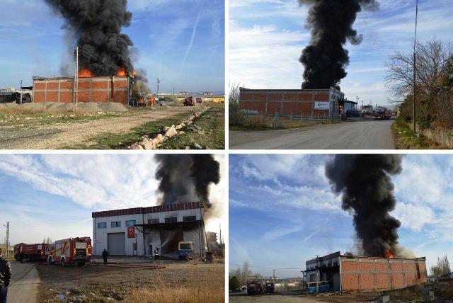 Yağ Üretim Fabrikası Yandı