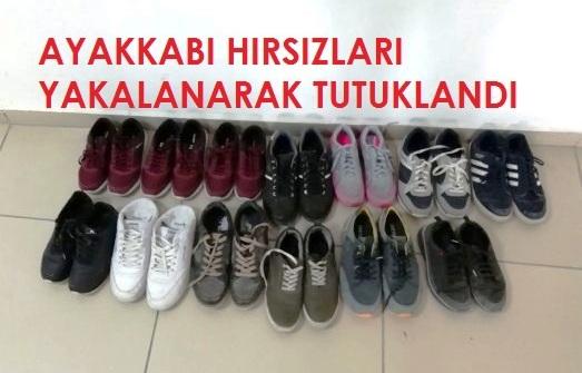 Ayakkabi Hirsizlari Yakalanarak Tutuklandi