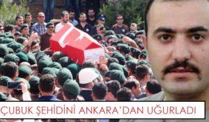 Çubuk Şehidini Ankara'dan Uğurladı