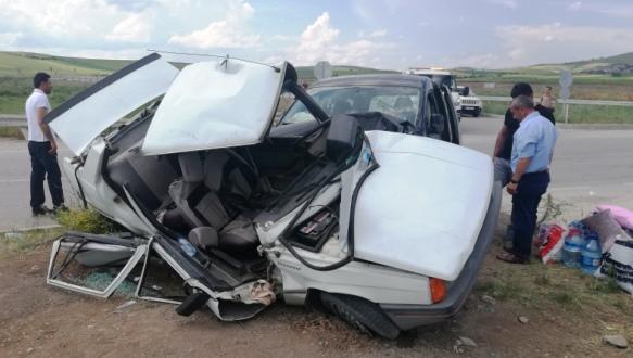 Kargın Çayırında kaza: 6 yaralı