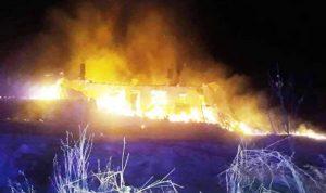 Yangında yaşlı çift yaşamını yitirdi