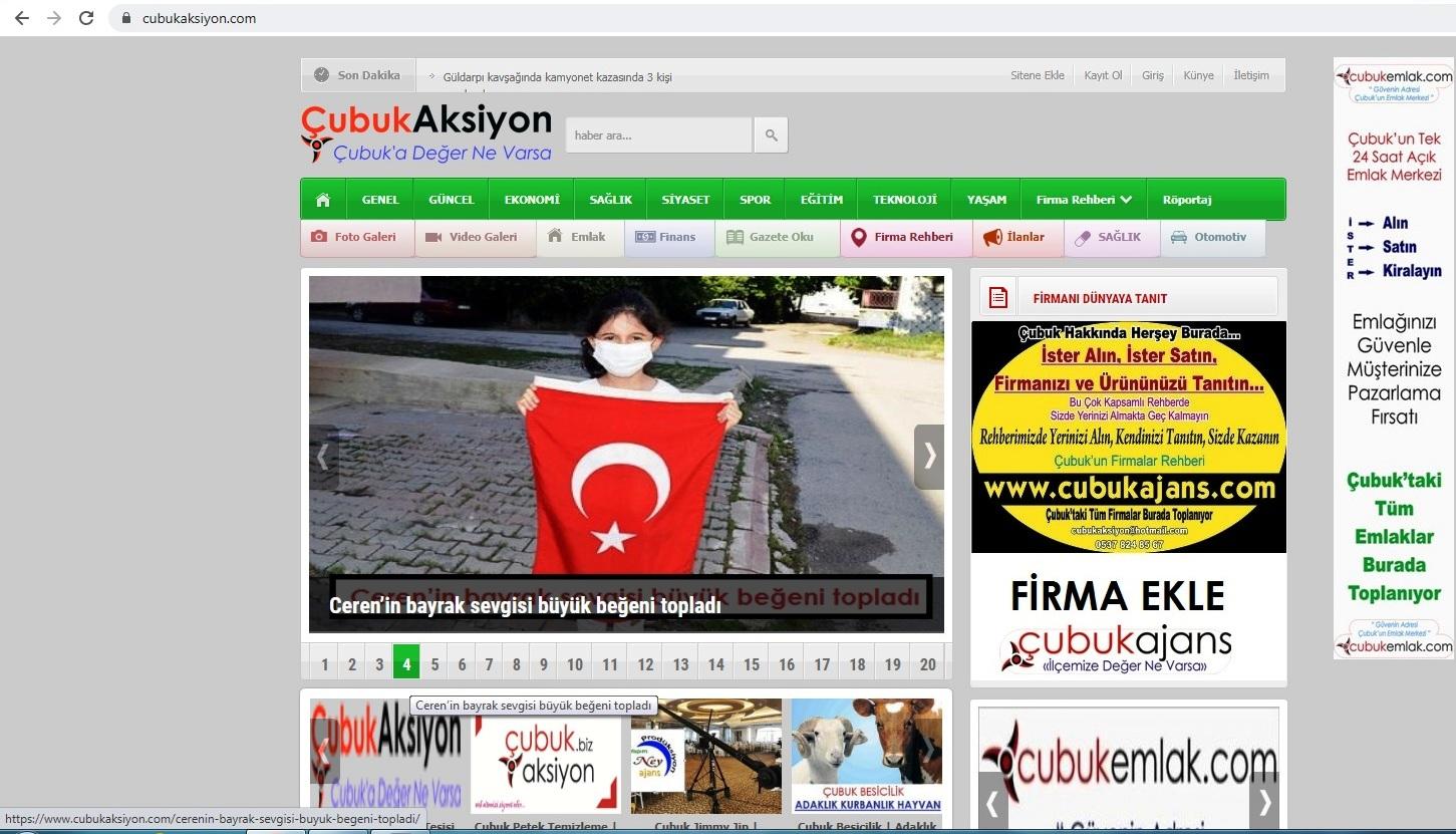 Çubuk Aksiyon Gazetesi Haber Ajansı sizinle