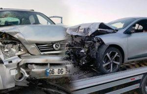 Çubuk2 Baraj yolunda kaza 5 yaralı