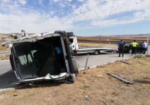 Akkuzulu kavşağında ki kaza da 5 yaralı var