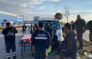 Çubuk Ankara ana yolunda kaza 10 yaralı